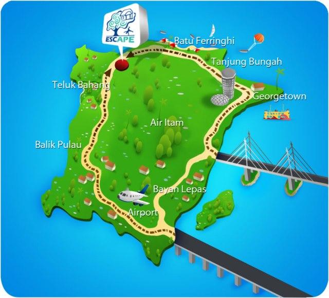 penang-escape-theme-park-location-map